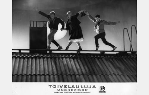 Helmer Salmi, Leni Katajakoski ja Leo Ahonen.