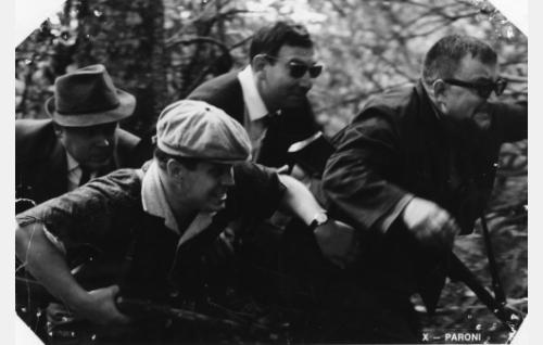 Rosvokopla: Skrüps, Tandem-yhtymän johtokunnan jäsenenä / koplan johtajana Herbert Katz ja sen muina jäseninä Simo Salminen, Allan Lindfors ja Kullervo Kukkasjärvi.