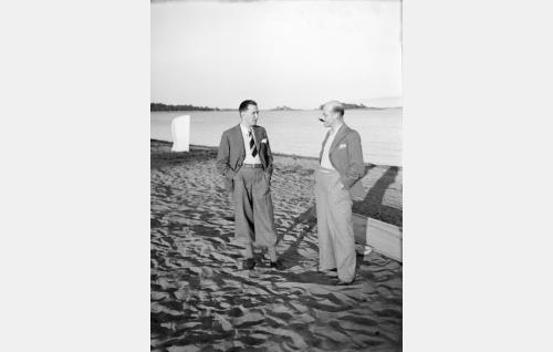 Vas.Emil Lucenius ja Topo Leistelä.