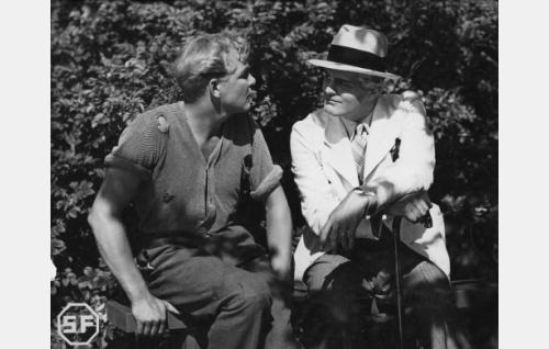 Leo Lähteenmäki ja Tauno Palo.