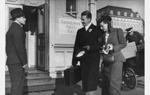 Eino Kaipainen, Joel Rinne ja Ester Toivonen.
