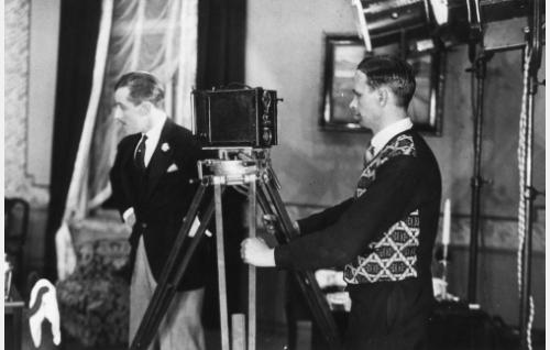 Ohjaaja Carl von Haartman ja kuvaaja Frans Ekebom.