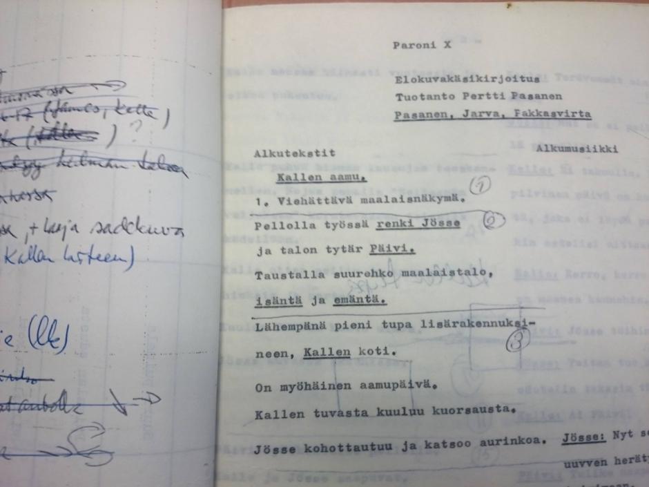 X-Paronin käsikirjoitus